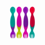 Toddler 2-for-1 Utensil 4 Pack (Two Color Combos!)