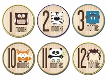 Woodland Critters Belly Stickers (Newborn -12 mo.)