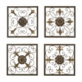 "16"" Glanum Iron Square Wall Plaques Set of 4"