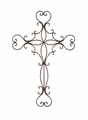 "30"" Plavis Wrought Iron Wall Cross"