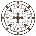 "36"" Salzburg Round Iron Wall Decor"