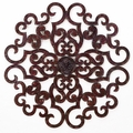 "38"" Scrolled Decadence Handmade Iron Wall Sculpture"