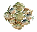 3D Fish Family Metal Wall Hanging