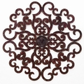 "50"" Scrolled Decadence Handmade Iron Wall Sculpture"