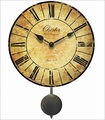 Antiqued Chester Wall Clock With Pendulum