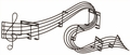 Asovia Musical Note Metal Wall Art