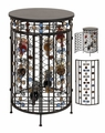 Berry Bushes Carousel Freestanding  Wine Rack