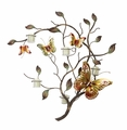 Butterfly Branch Metal Wall Candle Holder