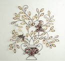 Butterfly Stopover Metal Wall Sculpture