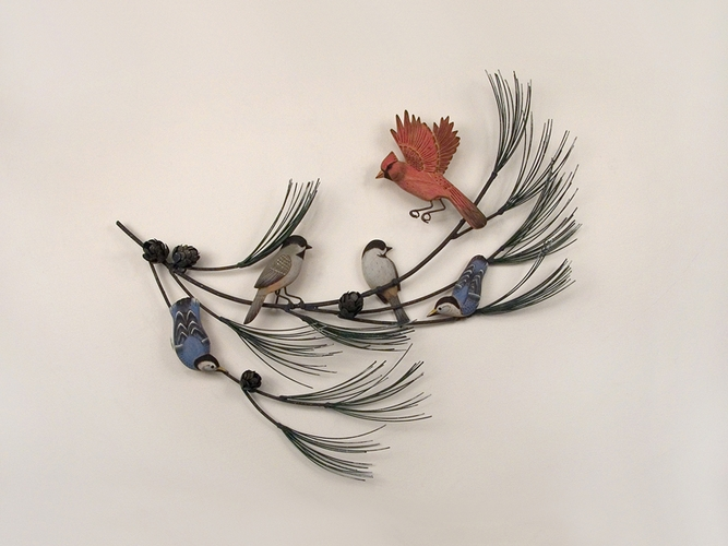 Peacock Feather Wall Decor Metal Metal Bird Wall Art Decor