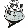 Chef Poisson Metal Wall Clock