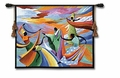 Colorful Tribal Dance Wall Tapestry