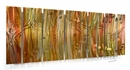 Copper Rain Seven-Panel Abstract Metal Wall Hanging
