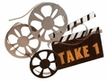 Director's Movie Reel 'Take 1' Metal Wall Hanging