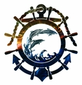 Dolphins at Sea Nautical Metal Wall Art Sculpture