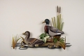 Ducks in a Row Handcrafted Metal Wall Sculpture