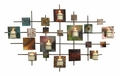 Flickering Grid Contemporary Candle Wall Art