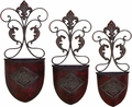 Florenze Iron Wall Vase Set of 3