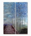 Forest Visitor Handmade Aluminum Wall Art Decoration Set of 2