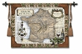 French Wine Country - a Classic Map of France Wall Tapestry