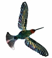 Happy Tropical Hummingbird Metal Wall Art Sculpture