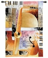 Jazz - Abstract Musical Design Tapestry