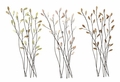 Resplendent Leaves Metal Wall Art Set of 3