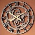 Rust Old Gear Wall Clock