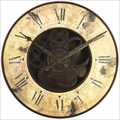 Rusty Gears Resin Wall Clock