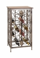 Scrolled Regalia Wrought Iron Wine Rack