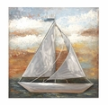 Sea-Going Sailing Vessel Hand-painted Metal 3D Wall Sculpture