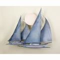 Seafaring Metal Art Sailboats Wall Sculpture