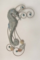 Shy Seahorse Metal Wall Sculpture