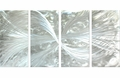 Silver Sensations Four-Piece Handcrafted Aluminum Wall Art