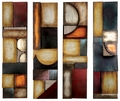 Sofia Abstract Four-Panel Metal Wall Hanging