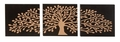 Tree of Life Three-Panel Wooden Wall Hanging