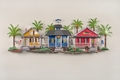 Village by the Sea Metal Wall Sculpture