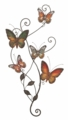 Vine of Butterflies Metal Wall Sculpture