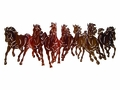 Wild Horse Run Metal Wall Sculpture