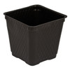 "3-1/2"" SQ TECH POT, BLK, LIGHT-WT, 1375/CS"