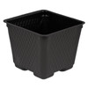 "4"" SQ TECH POT, BLK, LIGHT-WT, 880/CS"