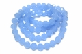10mm Reconstructed Chalcedony Crystal Faceted Round Beads Approx.27""