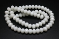 10mm White Obsidian Crystal Faceted Rondelle Beads 15.5""