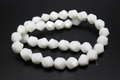 10mm White Obsidian Crystal Twisted Beads 15.5""
