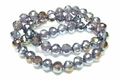 12mm Smoky Topaz Crystal AB Faceted Round Beads Approx.22""