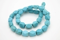 12x8mm Blue Turquoise Howlite Magnesite Oblong Faceted Beads 15.5""