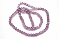 3mm Amethyst Crystal Faceted Bicone Beads Approx.12""