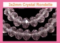 3mm Amethyst Crystal Faceted Round Beads Approx.11""