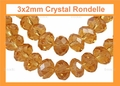 3mm Topaz Crystal Faceted Round Beads Approx.11""