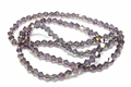 4mm Amethyst Crystal AB Faceted Bicone Beads Approx.19""